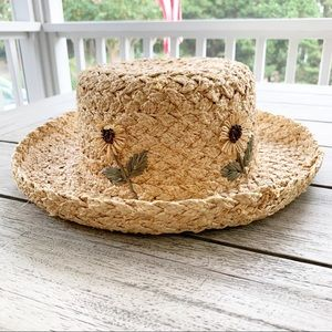 Gap 90's Straw Blossom Hat
